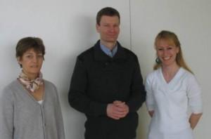 Dr. Buschmann mit den Organisatoren